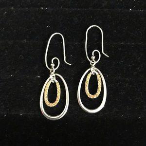 PANDORA 925 Silver swirl earring hooks & hoop